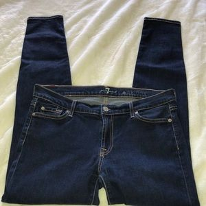 7 for all mankind jeans size 32 skinny
